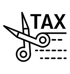 tax scissors icon outline style vector image