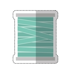 Thread roll isolated icon vector