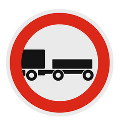 Trailer is forbidden icon flat style vector