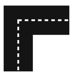 Turning road icon simple style vector