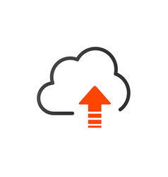 upload icon cloud storage symbol modern simple vector image