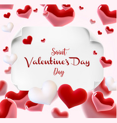 valentine s day many hearts cincept vector image