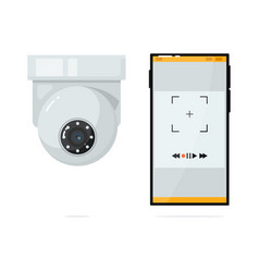 Video intercom camera unit with connection to vector