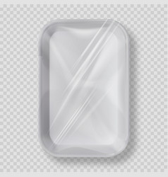 white empty plastic container for food vector image