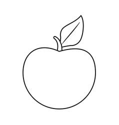 Whole apple icon image vector