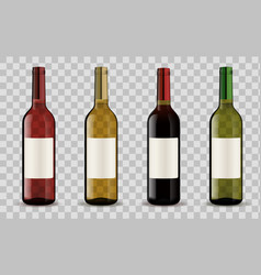 wine bottles isolated on transparent background vector image