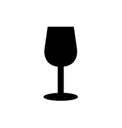 wine glass icon in on white background vector image