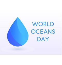 world oceans day design template ocean health vector image