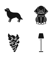Animal viticulture and or web icon in black style vector
