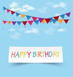 birthday celebration greeting card vector image