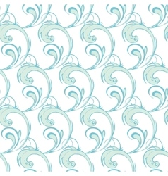 Blue green abstract waves swirls seamless vector