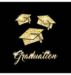 Congratulations grad celebration card vector