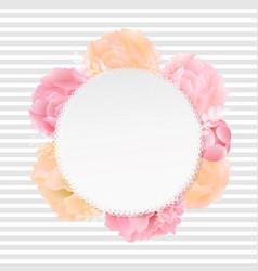 Flowers banner vector