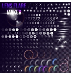 Mega set of lighting elements vector image