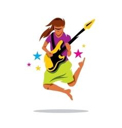 Rock Guitarist Cartoon vector image