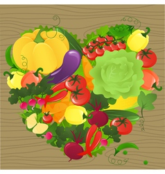 Vegetable heart vector image vector image