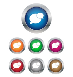 conversation buttons vector image