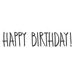 Happy birthday hand lettering vector