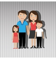 members of the family design vector image