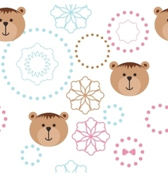 Seamless isolated pattern with bears vector image vector image