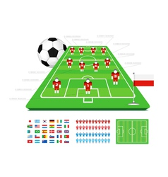 soccer tactical kit vector image vector image