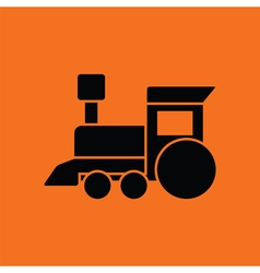 Train toy ico vector image