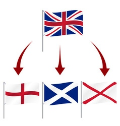 united kingdom great britain breakup flag symbols vector image vector image