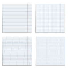 set of paper sheets vector image vector image