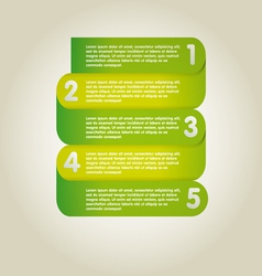Template infographic vector image