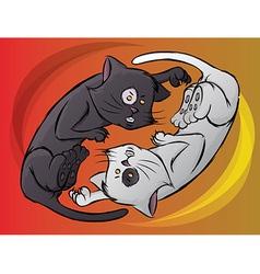 Yin Yang Kitty vector image vector image