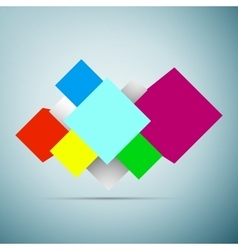 Abstract background with 3d cubes icon isolated on vector