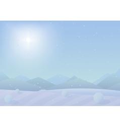 Beautiful simple flat Chrismas winter mountains vector image