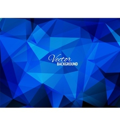 Blue business triangular background vector image vector image