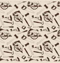 Carpentry tools seamless pattern design vector