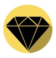 diamond sign flat black icon vector image vector image