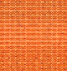 Orange Brick wall pattern background vector image vector image