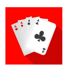 playing plastic cards for playing poker in the vector image