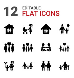 12 mother icons vector