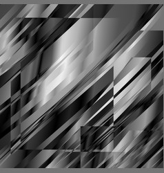 abstract blackandwhite metal glitch squared vector image