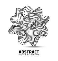 abstract wavy stripes shape logo beautiful vector image