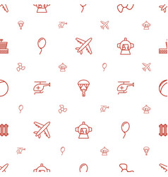 air icons pattern seamless white background vector image
