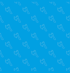 axe pattern seamless blue vector image