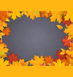 Back to school chalkboard maple leaves vector