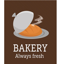Bakery design over brown background vector image