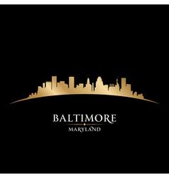 Baltimore Maryland city skyline silhouette vector image