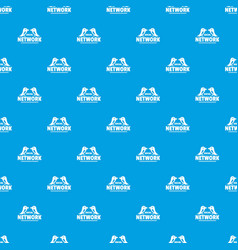 bird social network pattern seamless blue vector image