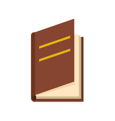 Book ajar icon flat style vector