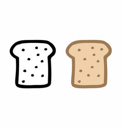 Bread slices freehand vector