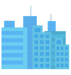 business construction high building city vector image