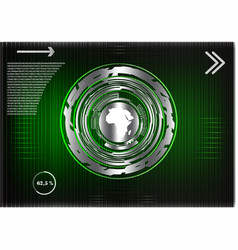 business statistics on a green background vector image